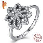 BELAWANG European Real 100% 925 <b>Sterling</b> <b>Silver</b> Tropical Palm Leaf Wedding <b>Rings</b> For Women Female Luxury Original Jewelry Gift