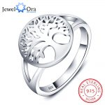 Tree of Life Classic Accessories 925 <b>Sterling</b> <b>Silver</b> <b>Rings</b> For Women New Mothers Day Gifts (JewelOra RI102308)