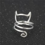 925 <b>Sterling</b> <b>Silver</b> Winding Cat Open <b>Rings</b> For Women Handmade Original Fashion Girl Prevent Allergy <b>Sterling</b>–<b>silver</b>-jewelry