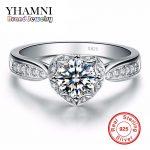 Promotion! Fine Jewelry Brand 100% 925 <b>Sterling</b> <b>Silver</b> <b>Ring</b> Inlay 1 Carat CZ Diamant Engagement Wedding <b>Rings</b> For Women AR024