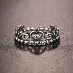 925 <b>Sterling</b> <b>Silver</b> <b>Rings</b> For Women Queen Princess Crown <b>Ring</b> Wedding Fashion Jewellery Best Gift For Girlfriend Anillos Mujer