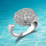 New arrival!!! genuine Solid 925 <b>sterling</b> <b>silver</b> <b>rings</b>. fashion adjustable girl's <b>ring</b> women pure <b>silver</b> <b>ring</b>,heart jewelry