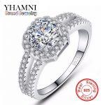Big Promotion! Fine Jewelry 100% Pure 925 <b>Sterling</b> <b>Silver</b> Engagement <b>Ring</b> Set 2 Carat CZ Diamant Wedding <b>Rings</b> For Women AR011