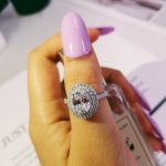 Solid 2018 fashion wome <b>ring</b> luxury <b>sterling</b> <b>silver</b> AAA oval big zirconia wedding and engagement <b>ring</b> LR4326S