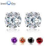 Genuine 925 <b>Sterling</b> <b>Silver</b> <b>Earrings</b> For Women Jewelry Diameter 5.6.7.8 mm Piercing Stud <b>Earring</b> Gift for her(Jewelora EA100129)