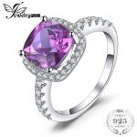 JewelryPalace Luxury 5.35ct Cushion Cut Created Alexandrite Sapphire Wedding Engagement <b>Rings</b> 925 <b>Sterling</b> <b>Silver</b> Fine Jewelry