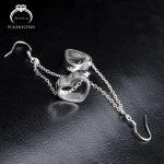 Hot Sale Charm Big Love Heart Pendant Earings 925 <b>Sterling</b> <b>Silver</b> Vintage Long Tassel Drop <b>Earrings</b> For Women Maxi <b>Earrings</b> Gift