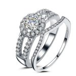 New 2016 Wedding Couple <b>Rings</b> for Men and Women 925 <b>Sterling</b> <b>Silver</b> Super Shiny Cubic Zirconia Engagement <b>Ring</b> Jewelry