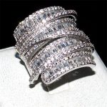 choucong jewelry Luxury Pave set full Square T 5a Zircon stone <b>ring</b> Women 925 <b>Sterling</b> <b>silver</b> cz Cocktail Band <b>Rings</b> size 5-10