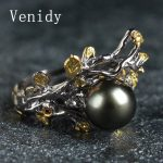 Venidy Super Quality Tahitian Pearls Wedding <b>Rings</b> for Women Elegance Channel 925 <b>Sterling</b> <b>Silver</b> Round Shiny Flower Finger <b>Ring</b>