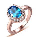 2016 New arrival hot sell blue CZ zircon 925 <b>sterling</b> <b>silver</b> ladies`finger wedding <b>rings</b> jewelry gift drop shipping women gift