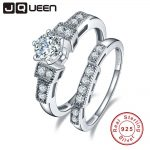 JQUEEN 100% 925 <b>Sterling</b> <b>Silver</b> Wedding <b>Rings</b> For Women Luxury 1.25 Carat 5*5mm cz Engagement <b>sterling</b> <b>silver</b> couple <b>ring</b>