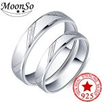 925 <b>sterling</b> <b>silver</b> couple <b>ring</b> men and women finger design promise for lovers love band wedding engagement jewelry R4343S