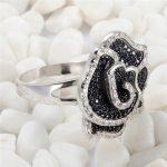 Eulonvan 925 <b>sterling</b> <b>silver</b> Promotion Black and White Cubic Zirconia <b>Rings</b> SS–3789URT Size #6 7 8 9 Christmas gift for women