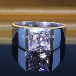 choucong Men's Princess cut 5A Zircon stone 925 <b>Sterling</b> <b>Silver</b> Engagement Wedding <b>Ring</b> Sz 8-12 Free shipping Gift