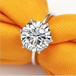 choucong Jewelry Hot Sale 925 <b>sterling</b> <b>silver</b> classic six claw 3 carat 10mm Big 5a Zircon CZ Engagement Wedding <b>rings</b> for women