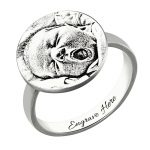 Wholesale Personalized Photo Engraved <b>Ring</b> <b>Sterling</b> <b>Silver</b> Family <b>Ring</b> for Mother Memorial Gift