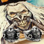 MAD MAX Immortan Joe <b>Ring</b> 925 <b>Sterling</b> <b>Silver</b> Mens Biker Skull 9Y021A