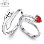 2017 New Fashion Real 925 <b>Sterling</b> <b>Silver</b> Adjustable Size Cupid's Arrow Love Heart <b>Rings</b> For Men & Women Lovers Wedding Jewelry