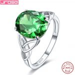 Jrose Alexandrite 7.8ct Green Quartz Solitaire <b>Rings</b> For Women Solid 925 <b>Sterling</b> <b>Silver</b> <b>Ring</b> Wedding Jewelry Fine Jewelry