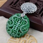S925 silver <b>jewelry</b> wholesale silver inlaid <b>antique</b> style female buckle pendant Tielong born in Gansu and Qinghai