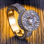 brand Arrivals Three Rows Round White Chain Zircon Rings Women And Men Party Wedding Gold Concise <b>Jewelry</b> <b>Accessories</b>