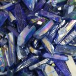 80gtitanium aura quartz rainbowl mineral specimen wire and wrapping <b>jewelry</b> DIY angel aura cluster specimens cured mineral point