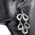 1Pair Vintage Silver The Eight Diagrams <b>Art</b> <b>Deco</b> Earrings Tribal Aztec <b>Jewelry</b> Costume 2017 New