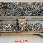 BEAUTIFUL CHINESE SILVER COPPER HANDMADE ROSE <b>JEWELRY</b> BOX