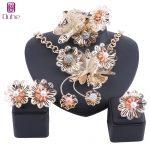 Dubai Gold Luxury <b>Jewelry</b> Set Nigerian Wedding Woman <b>Accessories</b> Set African Beads Big Flower Pearl Simulated <b>Jewelry</b> Set