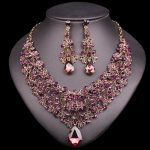 Fashion Necklace Earring Sets Vintage Bridal <b>Jewelry</b> Sets Rhinestone Party Wedding Costume <b>Accessories</b> Decoration Gift for Women