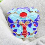 5PCS Wholesale Blue Cloisonne Pendant DIY Beads <b>Antique</b> making <b>Jewelry</b> Design Women Girls Gifts Accessories 35*36mm
