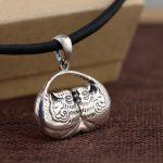 Deer King <b>Jewelry</b> Silver Pendant S925 Sterling Silver <b>Antique</b> female duck shape Pendant Gift craft