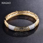 XIAGAO Fashion Gold Color Cuff Bracelets & Bangles for Women <b>Jewelry</b> Female Charm Hollow Bracelet Pulseiras Bijoux <b>Accessories</b>