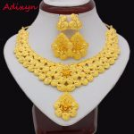 Adixyn Gold Flowers Necklace Earrings Set <b>Jewelry</b> Women Girls Gold Color Romantic Arab/Ethiopian/African Wedding <b>Accessories</b>