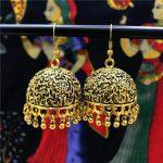 Original India Woman Birdcage Big Earring Retro Hippie Handmade <b>Antique</b> Golden <b>Jewelry</b> BOHO <b>Jewelry</b> From Thailand Egypt Arabia