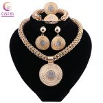 African Beads Costume <b>Jewelry</b> Sets Gold Color Fashion Women Wedding Bridal <b>Accessories</b> Party <b>Jewelry</b> <b>Accessory</b>