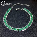 Super luxury emerald bracelet for wedding 32 pcs real natural emerald <b>silver</b> bracelet solid 925 <b>silver</b> emerald wedding <b>jewelry</b>