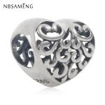 New Authentic 925 Sterling Silver Charm Bead Filigree Heart Beads <b>Antique</b> Style Charms Fit Pandora Bracelets Women DIY <b>Jewelry</b>