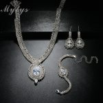Mytys Gorgeous <b>Jewelry</b> Sets for Women Weeding Bridal Party <b>Jewelry</b> <b>Accessory</b> Sparkling Silver Color Crystal Sets CN326