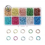 6/8/10mm for Choice Colorful Metal Aluminum Wire Open <b>Jewelry</b> <b>Accessories</b> Findings Wholesale Box Pack Jump Rings, Mixed Color