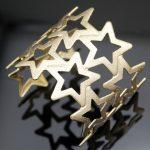 Gold Luck Satin Shooting Star Pentagram Venus <b>Art</b> <b>Deco</b> Wide Big Bracelet Bangle Cuff Cuff <b>Jewelry</b> Anime For Men Women Unisex