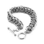 Fashion hip-hop rock style men <b>jewelry</b> bracelet 925 sterling silver 13MM20cm braided chain bracelet men silver <b>accessories</b> gift