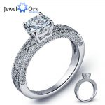 Charming 925 Sterling Silver Engagement Ring Luxurious Bridal Ring Women Silver Wedding <b>Jewelry</b> <b>Accessories</b> (JewelOra RI102022)
