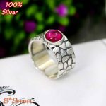 100% 925 sterling-silver-<b>jewelry</b> Adjustable Ring Blank Fit 8MM Setting Round Stone <b>Antique</b> Silver Classical platin
