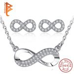Luxury 925 Sterling Sliver Infinity Love <b>Jewelry</b> Sets Necklace Pendant Earrings For Women Engagement Gift <b>Jewelry</b> <b>Accessories</b>