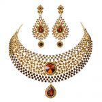 wedding <b>jewelry</b> sets Hot Sale brown crystal Rhinestone India Style Bridal necklace earrings Dinner Statement <b>jewelry</b> <b>accessories</b>