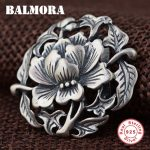 BALMORA Authentic 925 Sterling Silver <b>Jewelry</b> Retro Flower Pendants for Women Lover <b>Accessories</b> Gifts Without a Chain SY13785