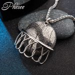 Phesee <b>Antique</b> Silver Color Basketball and Fram Necklaces & Pendants <b>Jewelry</b> for Women and Men Hollow Statement Necklace Bijoux