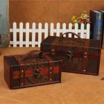 1set Retro <b>Antique</b> old storage box classical Can clamshell Grape pattern Sculpture Collection box Can portable Secret room props
